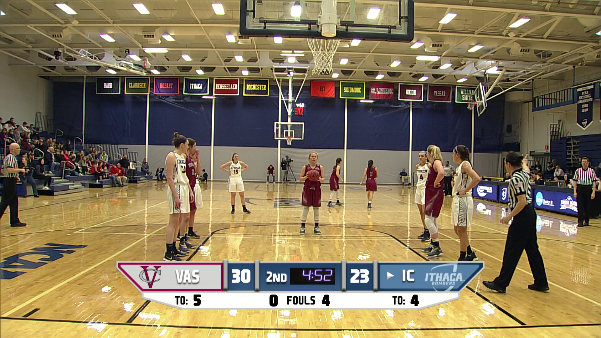 Ithaca womens basketball vs vassar first half bombers live ictv publicscrutiny Choice Image